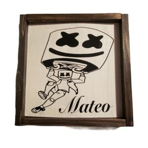 Hand crafted | Personalized Marshmello Wall Decor